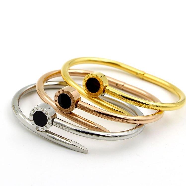 Rome digital nail Bracelet Tyme Charm Bracelets Carter love bracelets & bangles for women H Bangle Men Jewelry