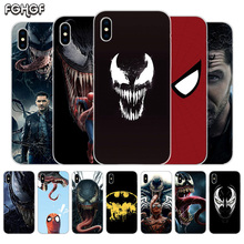 Fundas Silicone Phone Back Case For Apple iPhone 6 6S 7 8 Plus X 10 XS MAX XR 5 5S SE Heart Cover Venom Marvel
