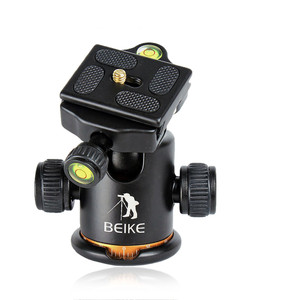 Image 2 - BEIKE Aluminum BK 03 Camera Tripod Ball Head with Quick Release Plate Pro Camera Tripod Max load to 8kg