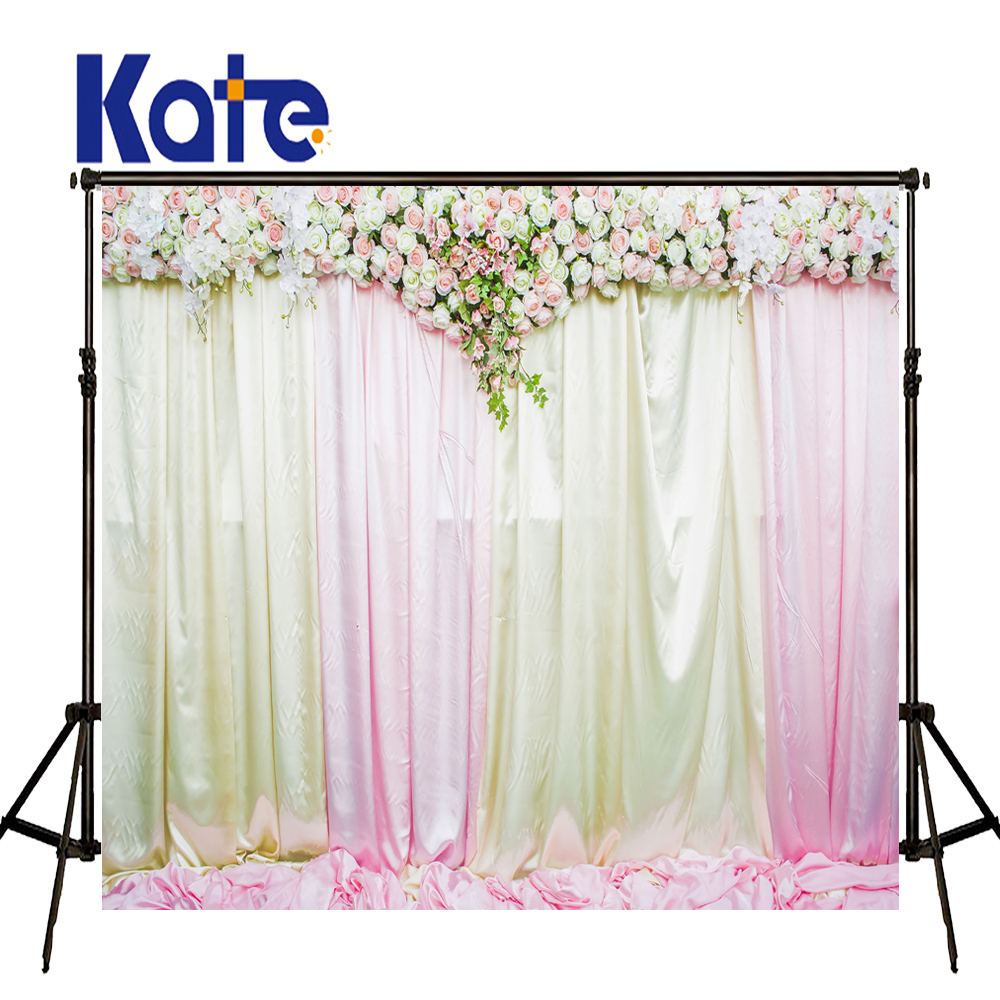 Kate Flower Wall Background Outdoor Wedding Backdrop Wooden Flower Stands Photo Large Size Seamless Photo 857 seamless nail wedding photo frame wall paintings hook the real invisible