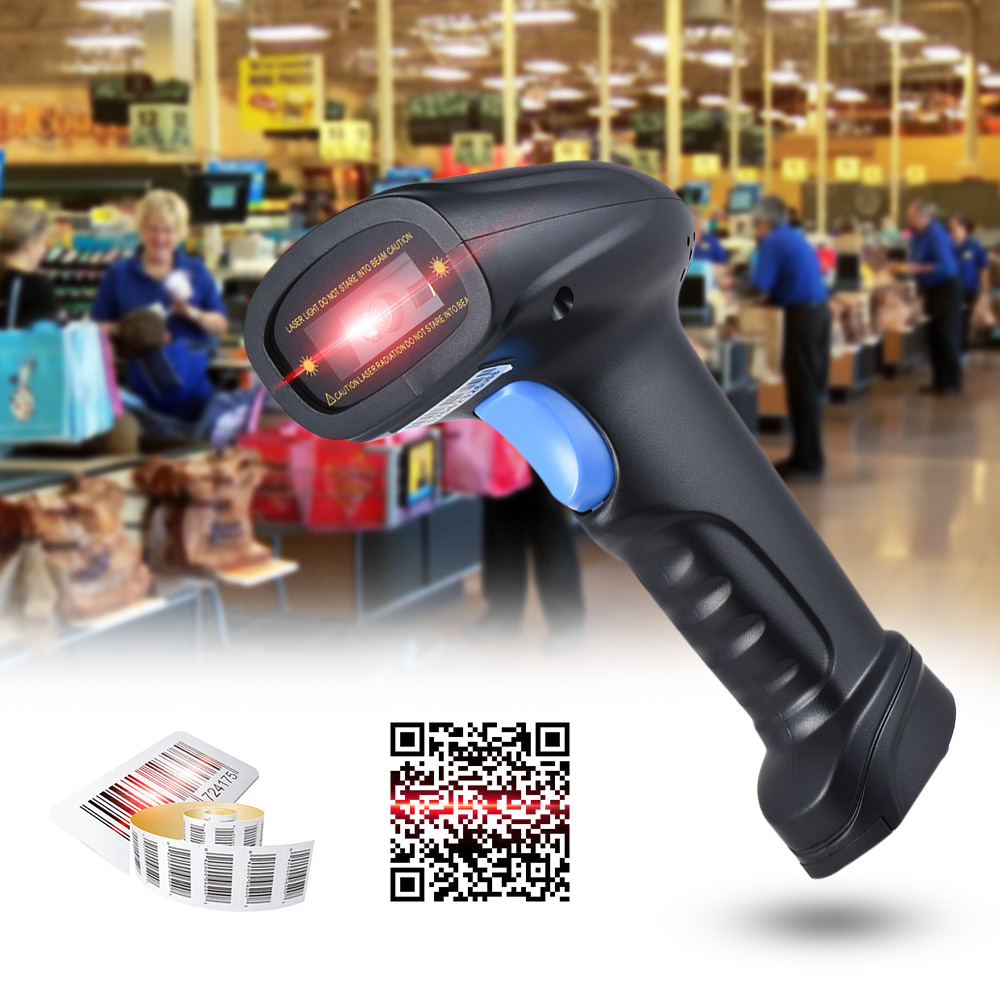 Aibecy Handheld 2.4G Wireless 1D/2D/QR Barcode Scanner Bar Code Reader USB Receiver 2100 Code Scanners for POS PC Android IOS 2d wireless barcode area imaging scanner 2d wireless barcode gun for supermarket pos system and warehouse dhl express logistic