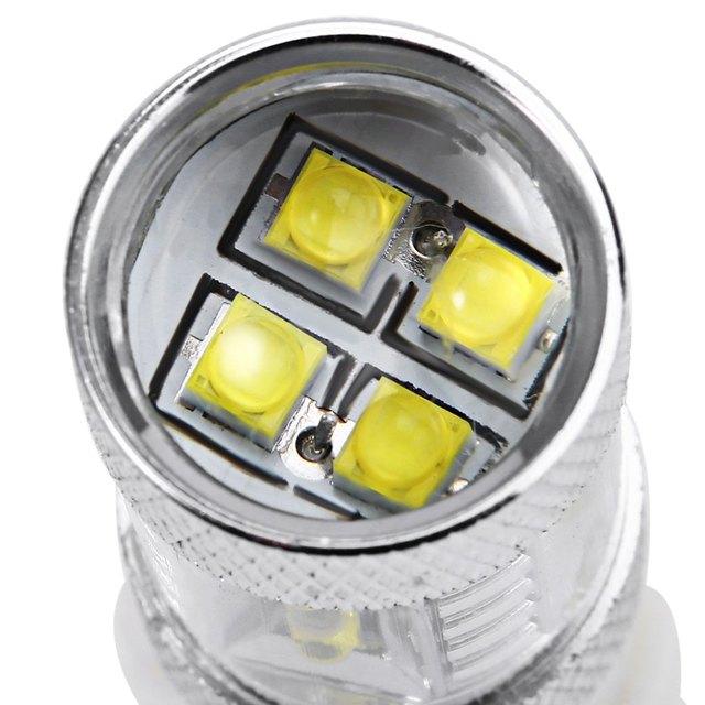 Car LED Fog Brake Turn Signal Driving Lightings Fog Light Led Fog Lamp Bulb High Quality 1Pcs 3156 80W with Super White Light