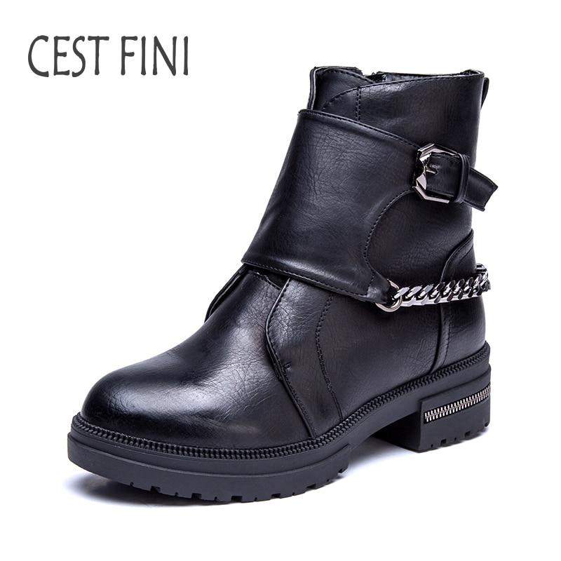 CESTFINI Fashion font b Women b font Rubber font b Boots b font Plush Ankle font