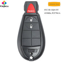 KEYECU OEM Remote Control Car Key With 3 Button 434MHz PCF7961A Chip - FOB for Dodge RAM 1500 2500 3500 2013-2018 FCC: GQ4-53T(China)