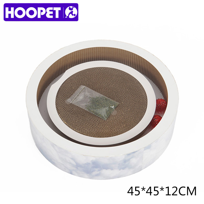 HOOPET Pet Supplies Cat Toy Scratcher Scratching Kitten Mat Sofa Board Bowl Shape Round ...