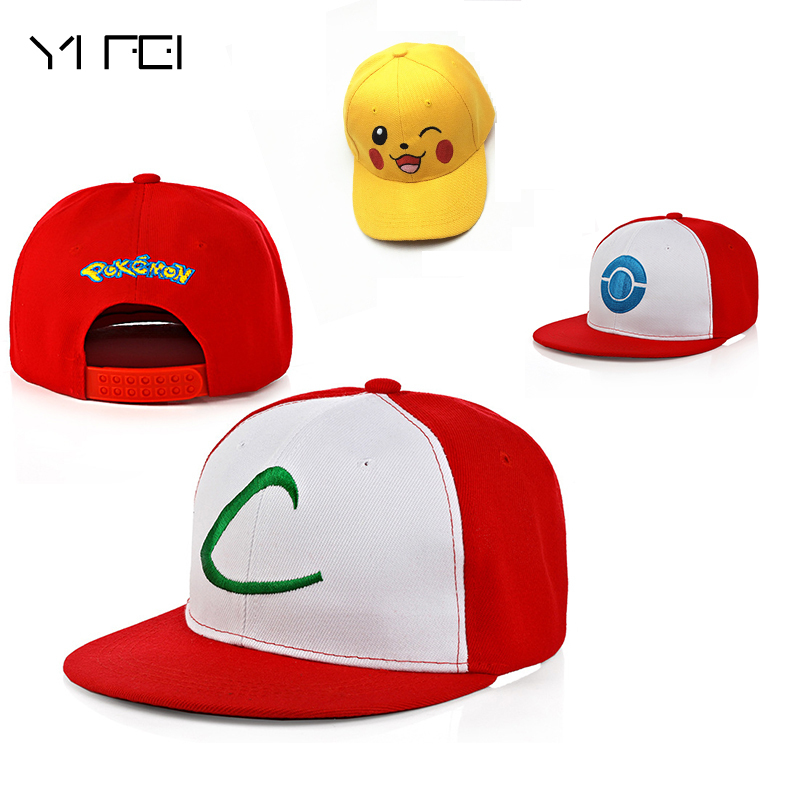 2018 Children Pokemon Go Cap snapback Hat Kids Team Valor Team Mystic Team Instinct Pokemon Cap Pokemon baseball Cap Hat Gorras new cartoon pikachu cosplay cap black novelty anime pocket monster ladies dress pokemon go hat charms costume props baseball cap