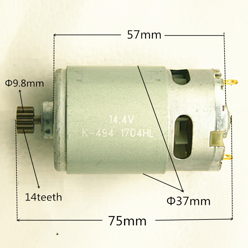 14 Teeth Motor 14.4V Replace For MAKITA 629819-4 629875-4 6381D BDF343 6280D 6280DWE 6281DWE 6281D MT070 6280DWPE 6280PWPE3