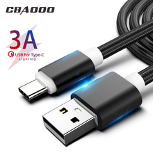 CBAOOO 3M 3A fast USB Type C Cable To For Samsung S10 Xiaomi mi 9 Oneplus 6t 6 PD Fast Charging Charger Type-C