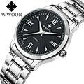 2016 New Brand Watch WWOOR Date Day Stainless Steel Relojes Watches Watched Dress Men Casual Quartz Watch Sport Wristwatch Style