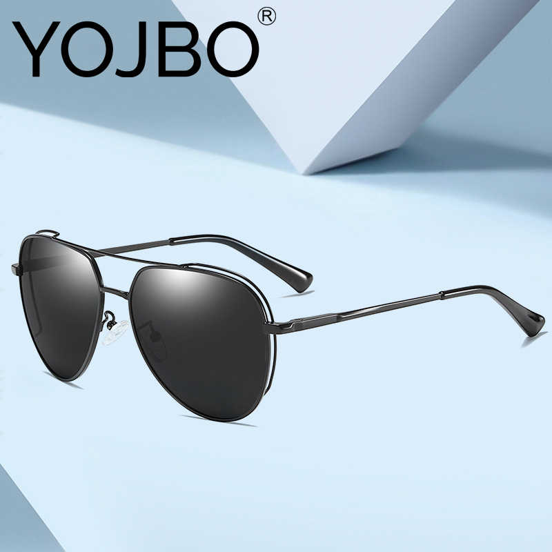 YOJBO Luxury Pilot Driving Sunglasses Men Polarized Brand Designer Man Eyewear Mirrored Coating UV400 Women Sun Glasses Oculos