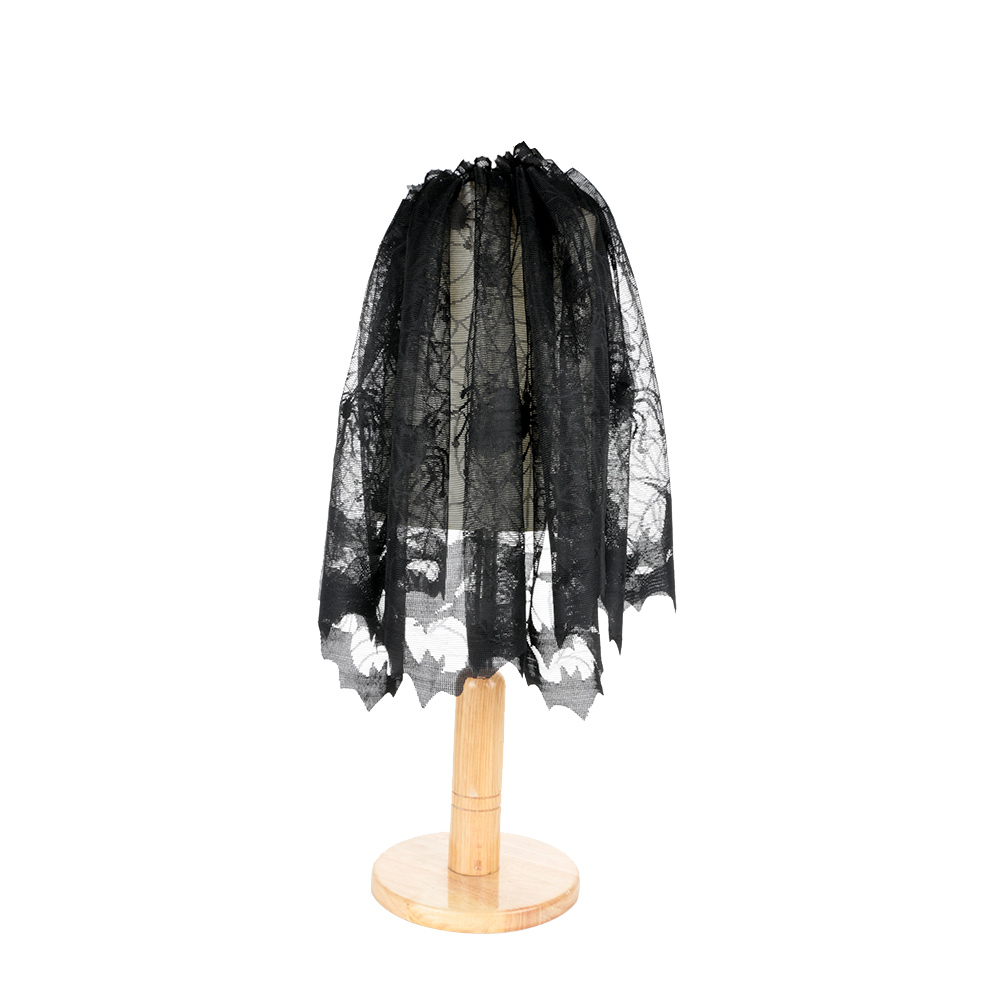Hot Sale Creative Halloween Decoration For Home Heritage Lace Lamp Shade Topper Fireplace Mantel Scarf Door Curtain Festive Party Relieving Rheumatism Blinds, Shades & Shutters