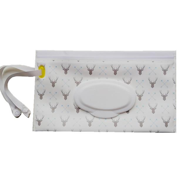 Toallitas de moda bolsa de mano y toallitas húmedas para cochecito bolsa de cosméticos con fácil transporte Snap- correa 23 modelos