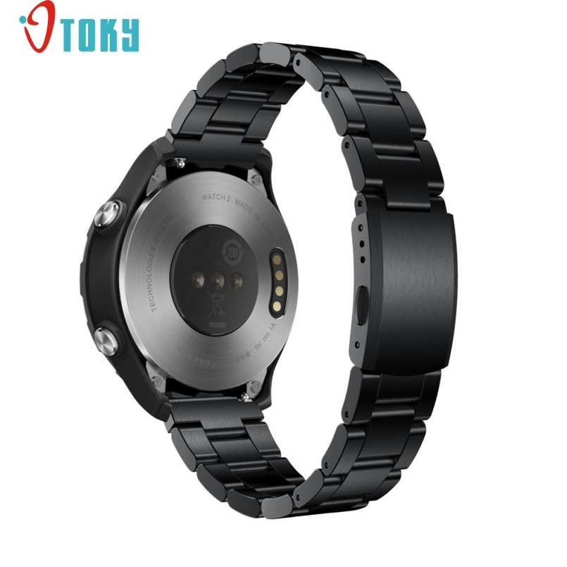 где купить  Excellent Quality 20mm For Huawei Watch 2 Genuine Stainless Steel Watchband Metal Band Replacement Smart Watch Bracelet #Mar 27  по лучшей цене