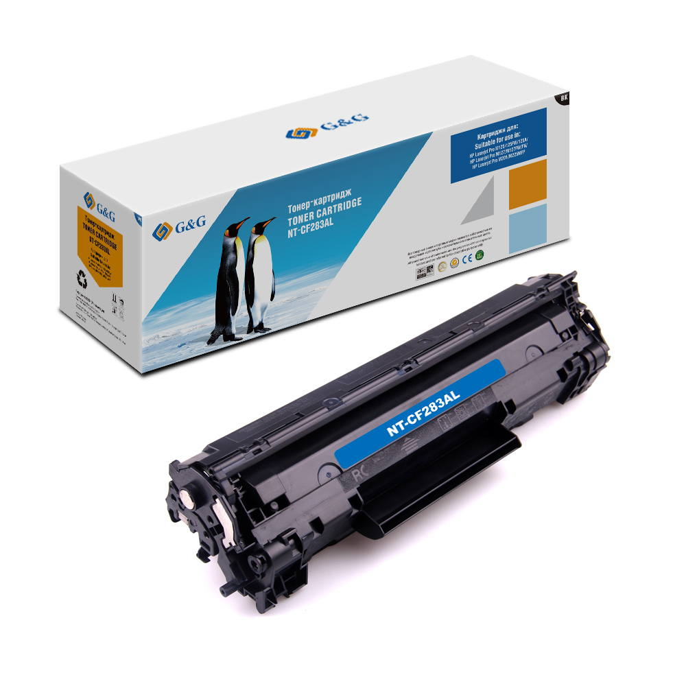 Computer Office Office Electronics Printer Supplies Ink Cartridges G&G NT-CF283AL for HP LaserJet Pro M125/M127/M201/M225 [kld ink] compatible refillable ink cartridge for stylus pro 4800 large format inkjet printer 9 cartridges with chip
