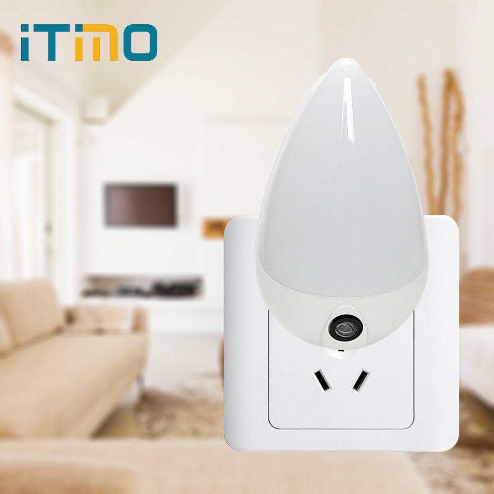 iTimo Water Drop LED Night Light Smart Light Sensor Staircase Corridor Wall Socket Lamp Children Bedroom Emergency Light EU Plug plug in electricity style corridor fire emergency light led safety export indicator sign vacuation passageway marker light