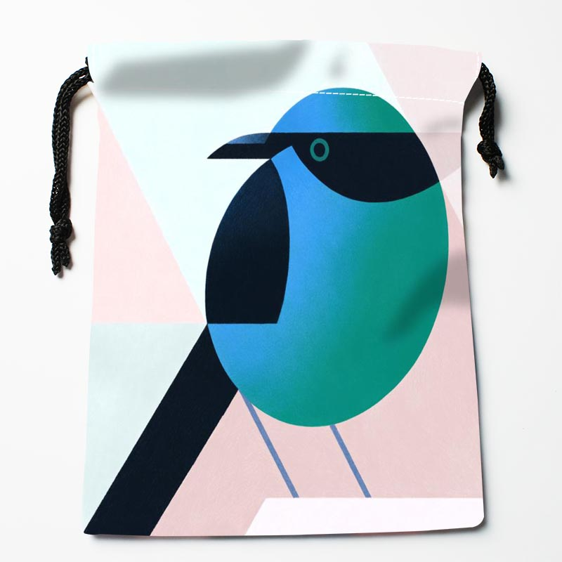 New Arrive Bird Drawstring Bags Custom Storage Bags Printed Gift Bags More Size 27x35cm DIY Your Picture