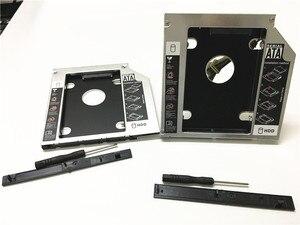 "Image 4 - Universal Aluminium 2nd HDD Caddy 12,7mm SATA III für 2,5 ""12,5mm 9,5mm 9mm 7mm SSD HDD Fall Gehäuse + Dual LED für Laptop ODD"