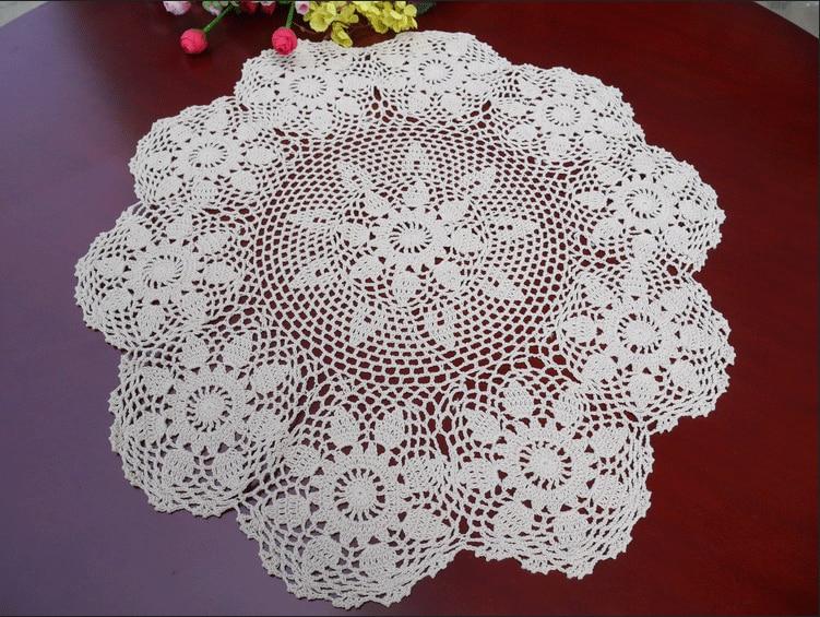 இpastrol style round handmade crochet doily