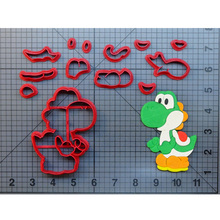 Cartoon TV Super Mario Cookie Cutter Set Made 3D Printed Kamek Logo Fondant Cupcake Top Cake Decoration Tools