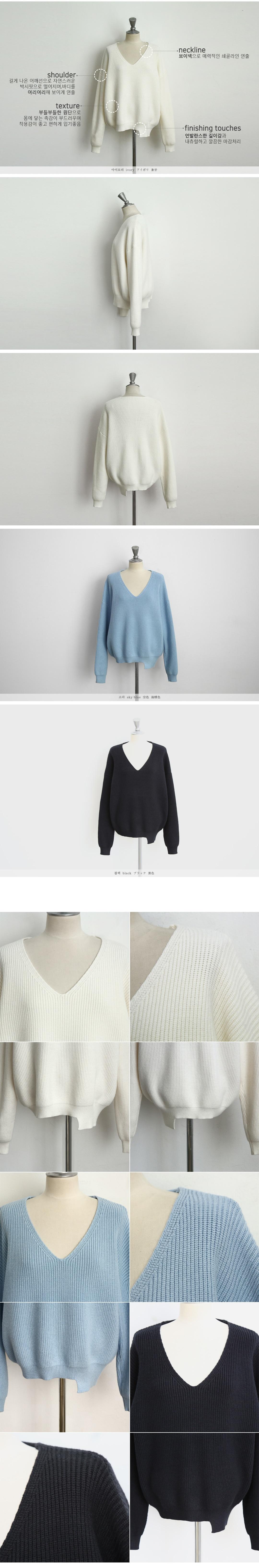 19 Winter Ovreiszed Sweater Women V Neck Black White Sweater Irregular Hen Knitted Tops 27