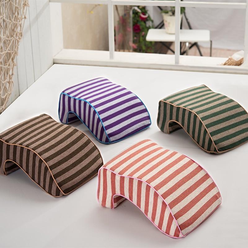 iDouillet Stripes Slow Rebound Memory Foam Napping Pillow ...