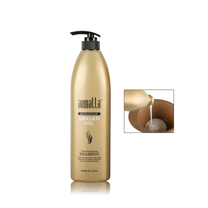Best Selling Armalla 1000ml Moroccan Professional Natural Dry Shampoo and 1000ml Deep Conditioner For Hair+100ml Argan Oil