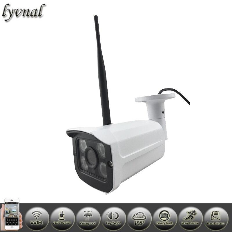 bilder für HD 1080 p sony323 Wireless IP Kamera Mit Audio Überwachungskamera Wifi 720 p 4 stücke Array Leds ONVIF Netzwerk wifi kamera Freies verschiffen
