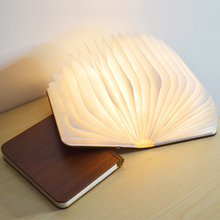 Portable wooden book lamp USB Rechargeable LED Magnetic 3 color Dimmable Foldable Night Light Desk Lamp Home Decor все цены