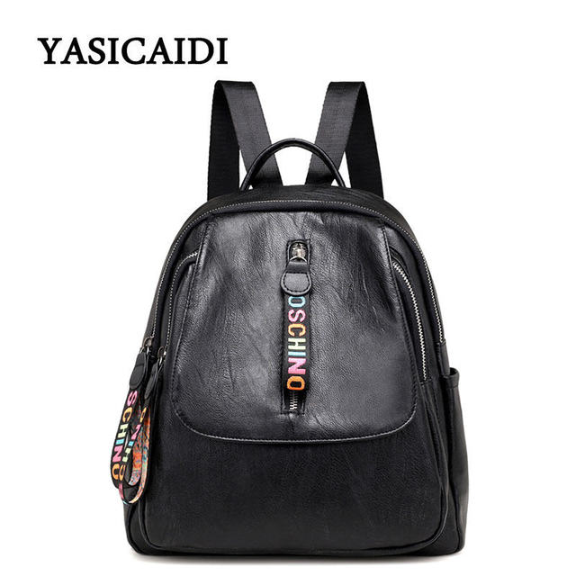 2018 New Arrival Spring Women Backpacks Pu Leather College Bags For
