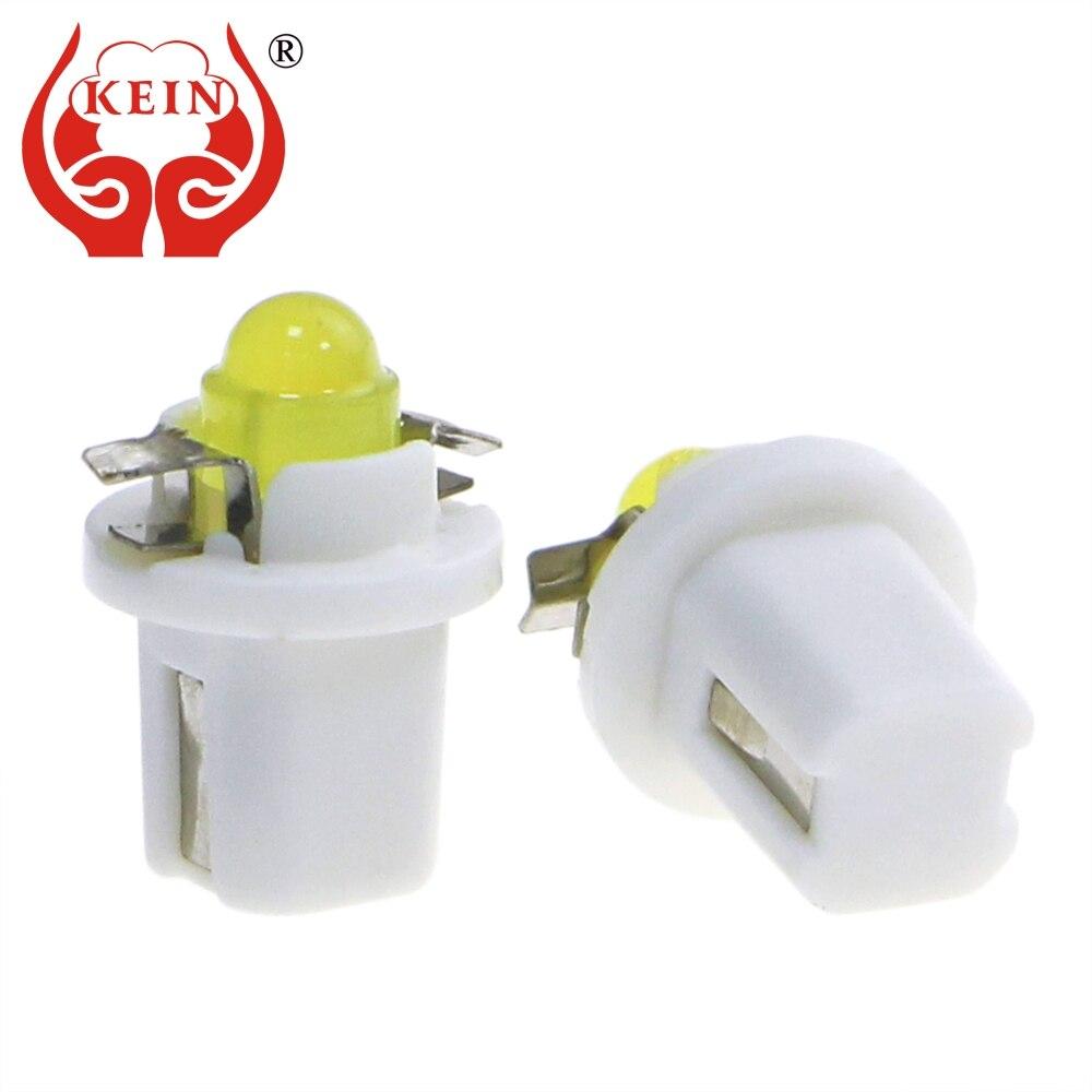 Кейн 10шт Т5, В8.5Д В8.5 Светодиодные лампы удара автомобиль приборной панели инструмент свет приборной панели приборной панели индикатор интерьер лампы 12V синий сигнал