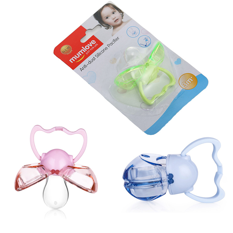 1PCS Baby Nipple Food Grade Silicone Dustproof And Antibacterial Automatic Housing Baby Pacifier Teether Care Dustproof Pacifier