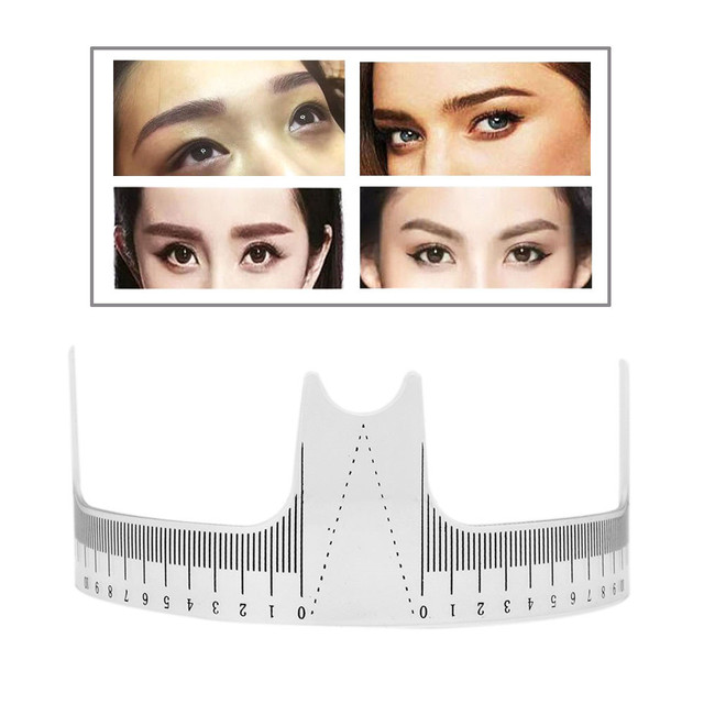 4pcs/lot Reusable Eyebrow Ruler Tool Permanent Makeup Eyebrow Grooming Tattoo Stencil Shaper Rule Measure Tool Makeup Measures 1