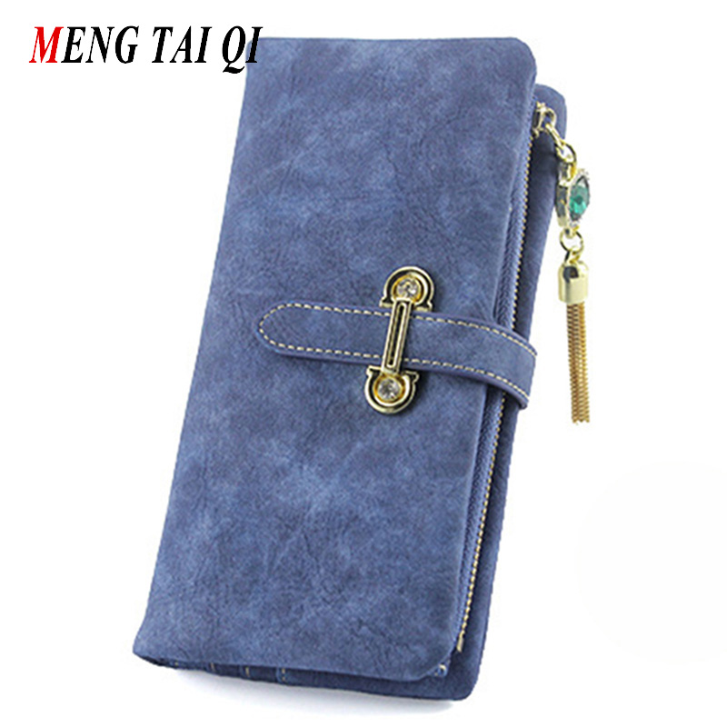 Wallet women luxury brand coin purse bag female clutch handbags tassel long Nubuck leather wallets woman fashion famous design 5 women leather wallets v letter design long clutches coin purse card holder female fashion clutch wallet bolsos mujer brand