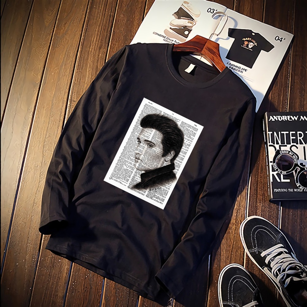 Elvis Presley News Paper Style Funny Tshirt Custom Cotton O Neck Top Tees  Plus Size Long Sleeve Brand Unisex Shirts