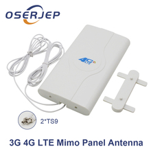 700 2600mhz 3g 4g Lte External Booster Panel Antenna 4G LTE MIMO 2X TS9 Connector + 2M/3M/5M For 3g 4g Huawei Router Modem