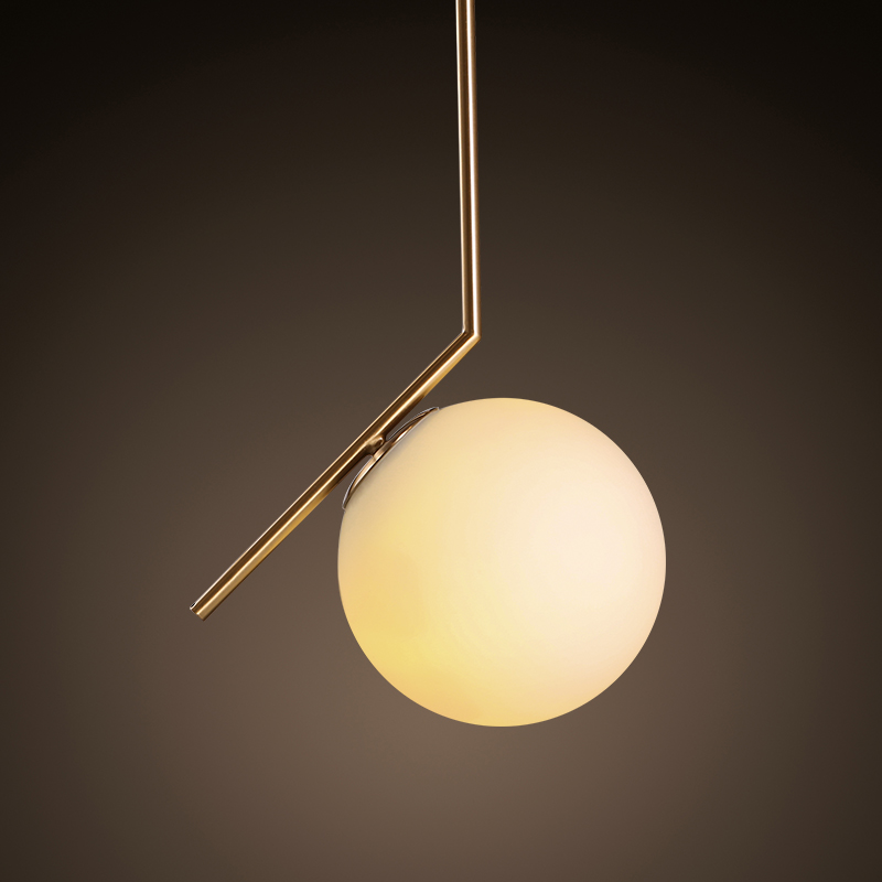 ФОТО Modern Style Living Room Bedroom Minimalist Restaurant Pendant Light Nordic Clothing Decoration Glass Ball 1964