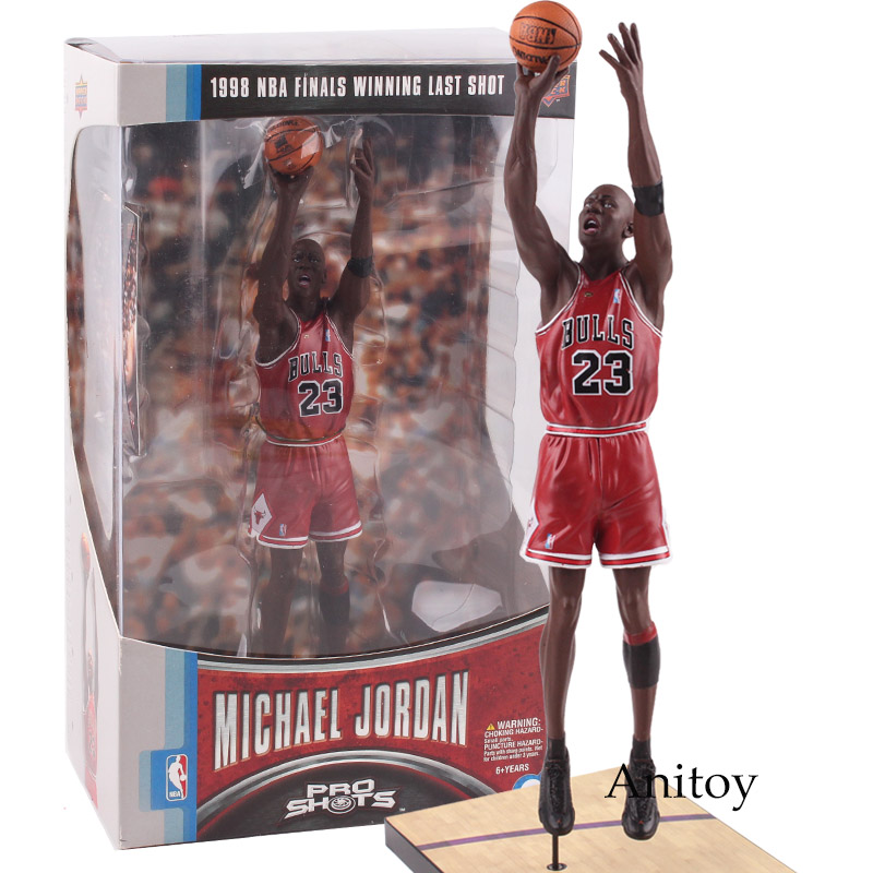 UpperDeck NBA Michael Jordan Chicago BULLS 23 Finals Winning Last Shot Figure PVC Action Figures Collectible Model Boys Toys trevor ariza autographed signed 8x10 photo lakers nba finals free throw coa