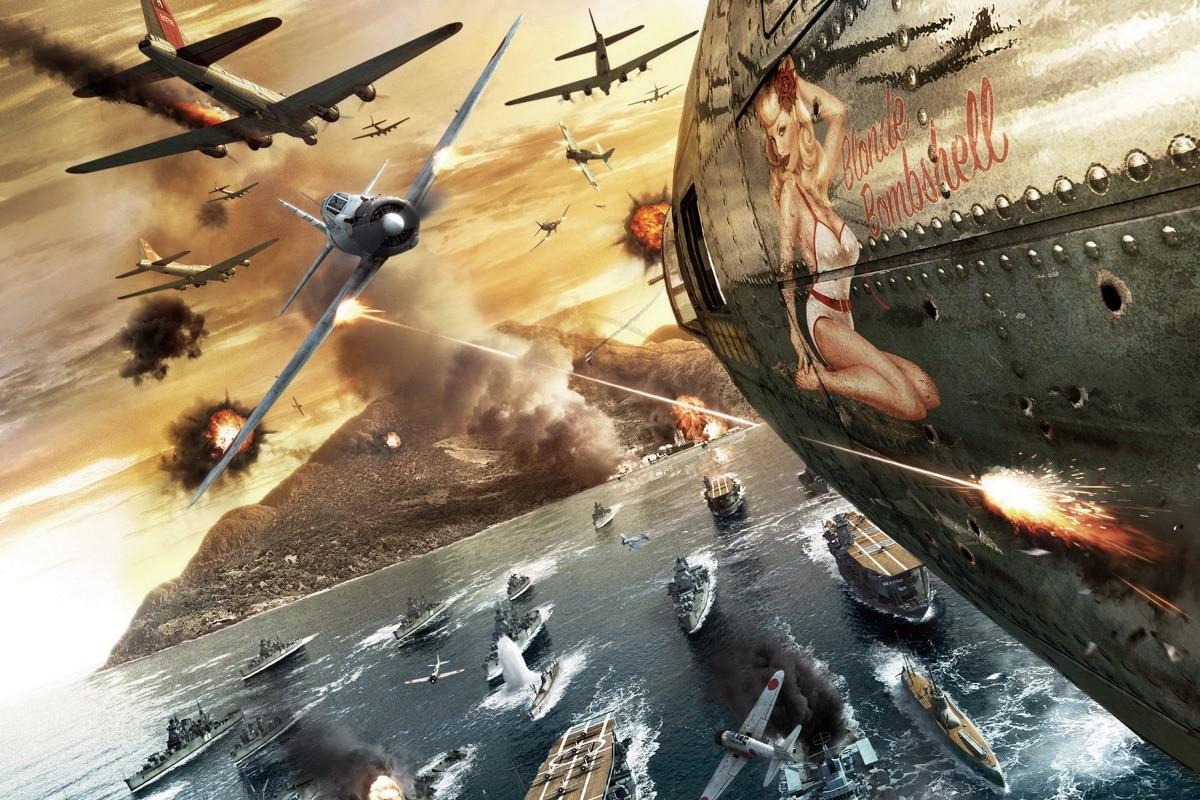 games war bombs islands artwork shooting pacific battlestations midway KA578 room home wall modern art decor wood frame poster