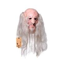 Tam Yüz Cosplay Ürpertici Korkunç Lateks Oyunculuk Gandalf Maskesi Korku Maskeli Yetişkin Film Hayalet Maske Parti Cadılar Bayramı Sahne Kostümleri