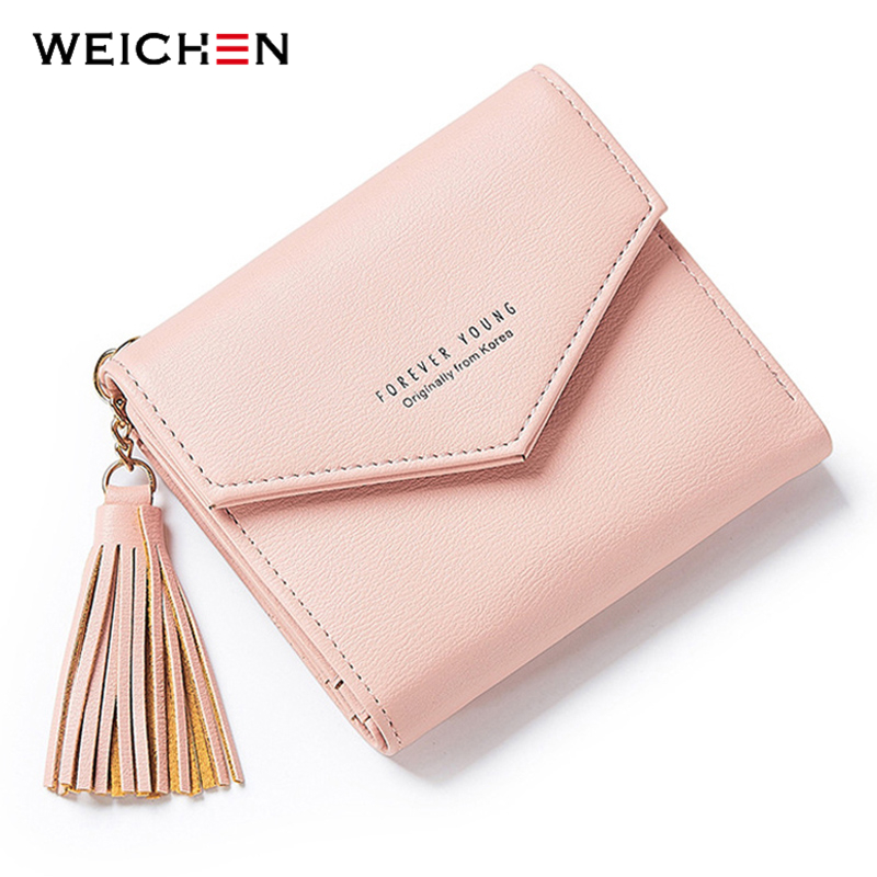 2018 New Tassel Pendant Day Clutch Wallet For Women Coin Bag Card Holder Short Small Womans Wallets and Purses Female Lady Girl