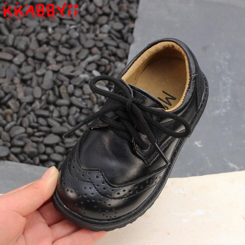 New British style Genuine Leather Shoes For Boy Girl Fashion Children Wedding shoes Black White Dress Shoes EUR 21-30New British style Genuine Leather Shoes For Boy Girl Fashion Children Wedding shoes Black White Dress Shoes EUR 21-30