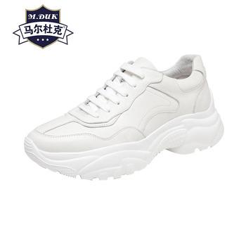 Prawdziwej skóry wiosna jesień rozrywka buty w stylu casual męskie koreański mody prawdziwej skóry białe buty męskie cały mecz skóra bydlęca tanie i dobre opinie Dla dorosłych Przypadkowi buty Podstawowe Gumowe Oddychająca Wodoodporna Lace-up Świńskiej M duk Wiosna jesień Pasuje prawda na wymiar weź swój normalny rozmiar