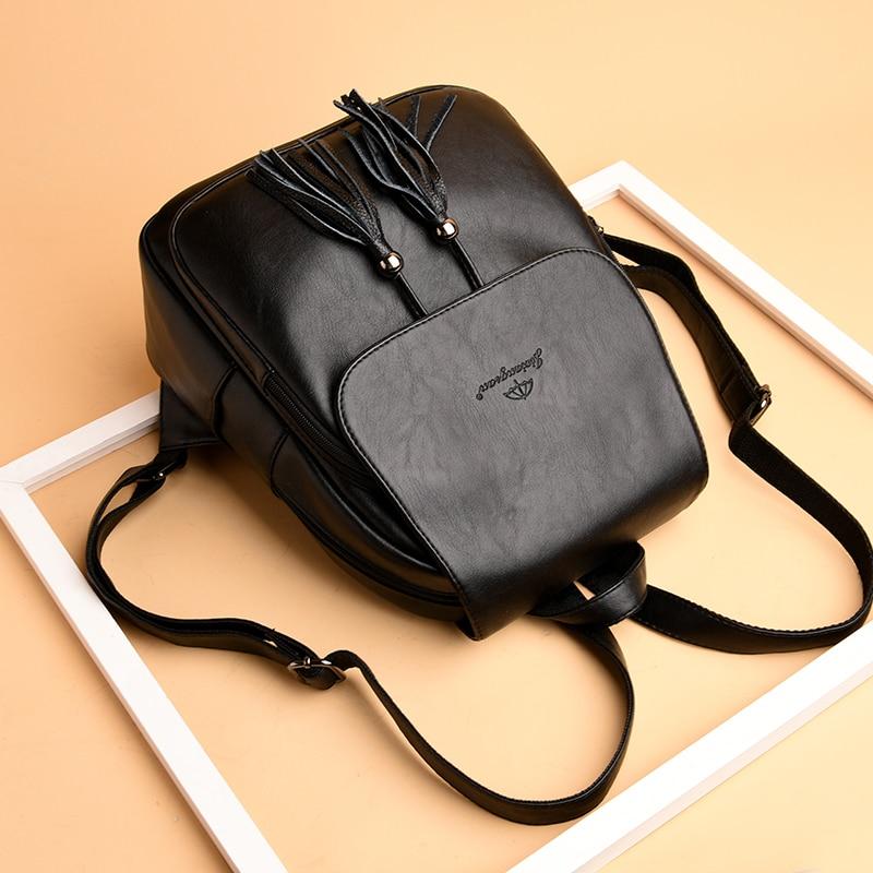 HTB16DEVAb1YBuNjSszhq6AUsFXaa Fashion2018 Women Backpacks Women's Leather Backpacks Female school backpack women Shoulder bags for teenage girls Travel Back