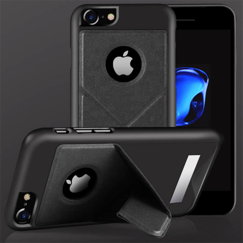 New Protective Cover For IPhone6/7 6Plus/7Plus Phone Shell Magnetic Suction Lazy Bracket Hols 4 Colors