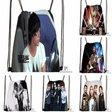 Custom Sleeping With Sirens Music Drawstring Backpack Bag Cute Daypack Kids Satchel (Black Back) 31x40cm#180531-03-50