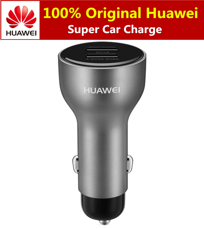 Original Huawei SuperCharge Car Charge 5A Fast Charging Dual USB Output For Samsung Galaxy S10 Iphone X XS MAX 6 7 8 Car Charger