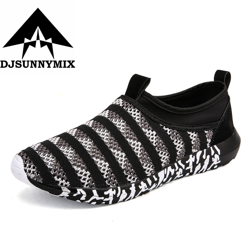 DJSUNNYMIX Super Cool breathable running shoes men sneakers mesh summer outdoor sport shoes Professional Training shoes 2018
