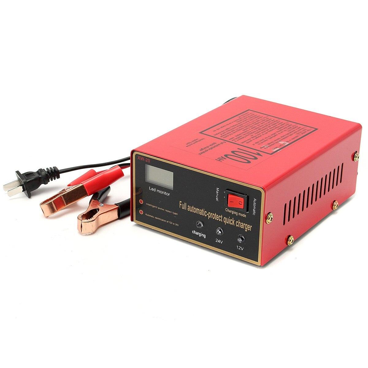 220 V 12 V/24 V 100AH Automatico Tipo di Riparazione Impulso Intelligente Caricabatterie da Auto