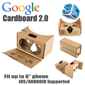 2016 New Version Google cardboard 2 bigger 2.0 Version virtual reality vr glasses for 6inch mobilbe phone