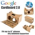 2016 nueva versión de google cartón 2 más grande 2.0 versión vr gafas de realidad virtual para 6 pulgadas teléfono mobilbe